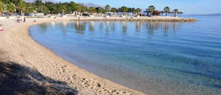 Пляж Кастелет в Сплите