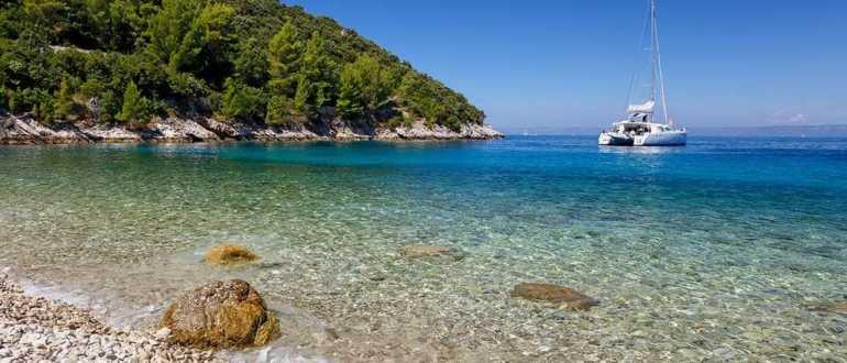 Пляж Пупнатска лука на острове Корчула