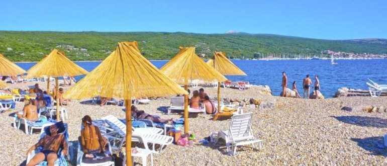 Пляж Дунат на острове Крк