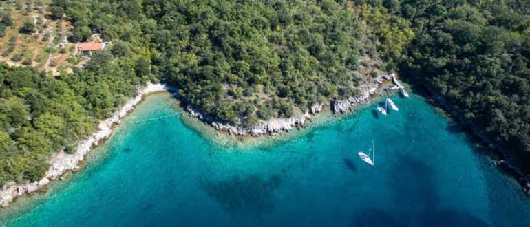 Пляж Йерт на острове Крк