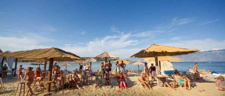 Пляж Ciganka на острове Раб