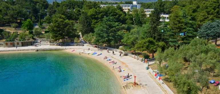 Пляж отеля Kimen на острове Црес