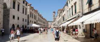 Улица Страдун в Дубровнике