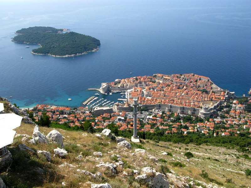 Гора Срдж в Дубровнике