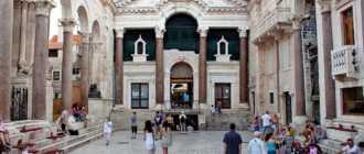 Площадь Перистиль в Сплите