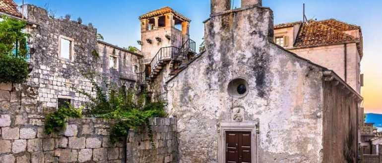 Капелла Святого Петра на острове Корчула