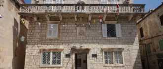 Дворец епископа на острове Корчула