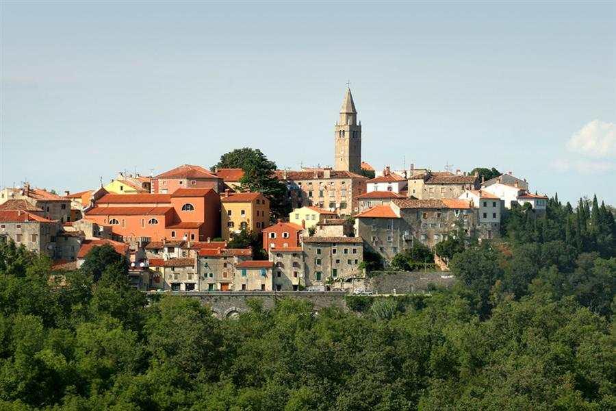 Средневековый город Лабин в Хорватии