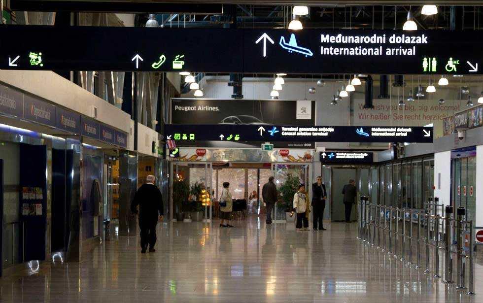 Аэропорт в Загребе