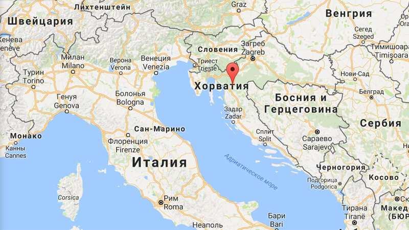 croatia on map - Где находится Хорватия на карте Европы