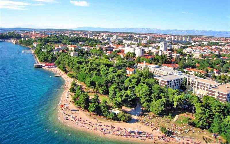 город Задар в Хорватии