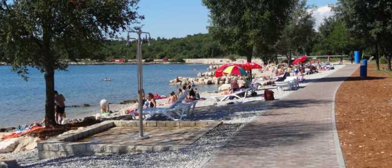 Пляж Materada в Порече