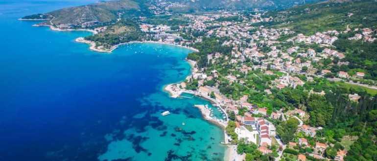 Mlini пляж в Дубровнике