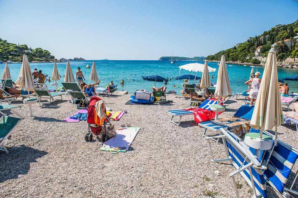 Пляж Лапад в Дубровнике