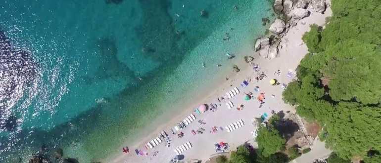 Пляж Стриежице в Млини