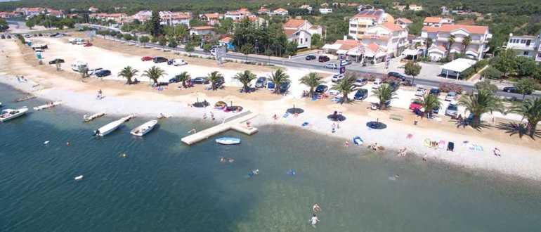 Пляж Златна Лука в Задаре