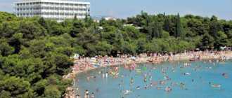 Пляж отеля Империал в Водице