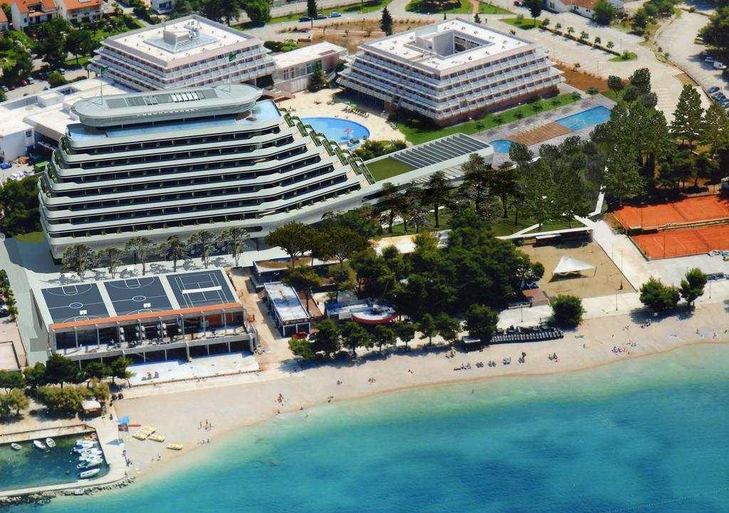 Пляж отеля Олимпия в Водице