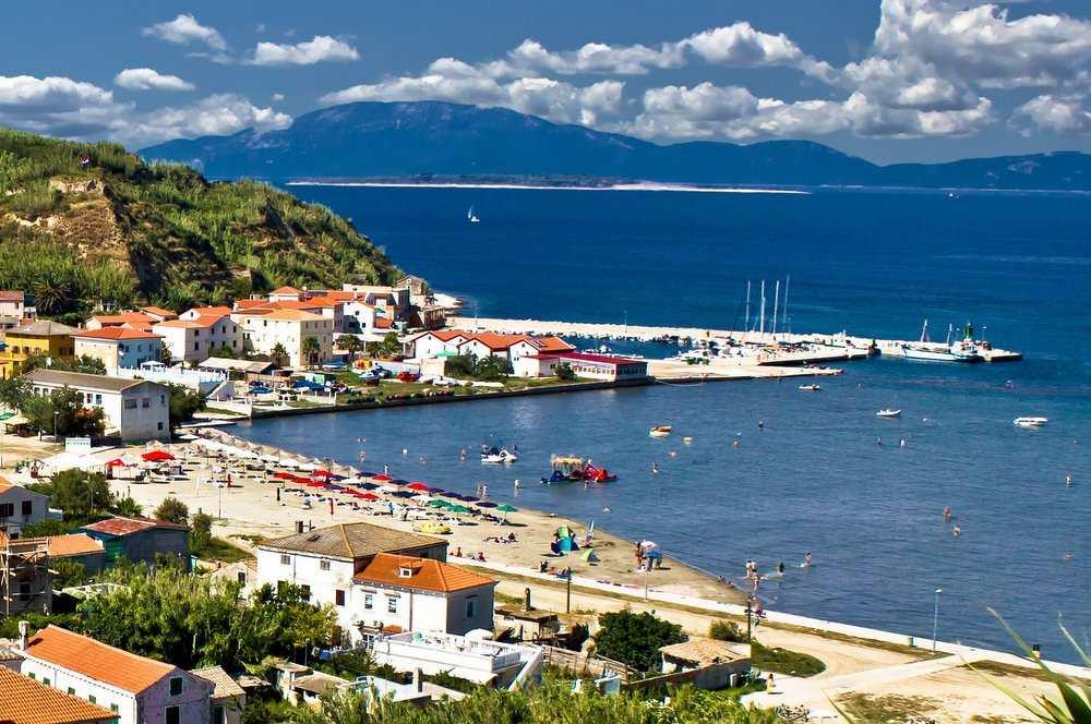 Пляж на острове Сусак в Хорватии
