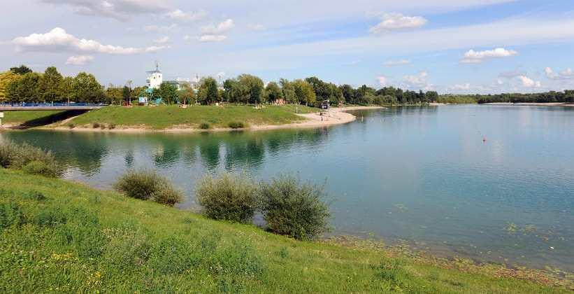 пляж реки Сава в Загребе