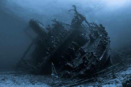 Затонувший корабль у берегов Хорватии