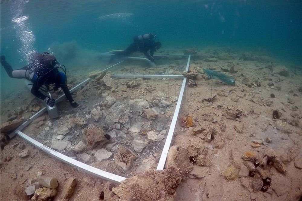 Археологические изыскания на дне моря в Хорватии