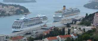 Лайнеры в порту Хорватии